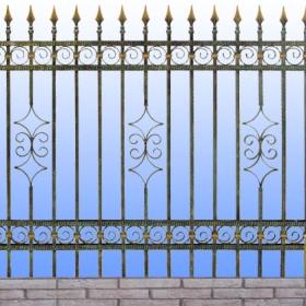 Ploty Kovaný plot ZY-W04004 rozměr 230x135cm