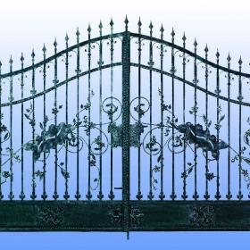 Brány Kovaná brána FSB-010 Č.rozměr 350x250cm