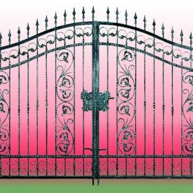 Brány Kovaná brána FSM-004 Č.rozměr 350x250cm