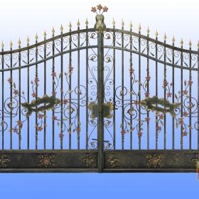 Brány Kovaná brána FSM-0058  rozměr 350x250cm