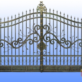 Brány Kovaná brána FSM-009 rozměr 350x250cm