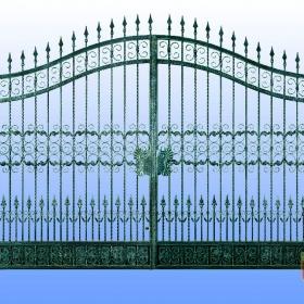 Brány Kovaná brána FSM-010 Č.rozměr 350x250cm