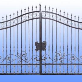 Brány Kovaná brána FSM-018 Č.rozměr 350x250cm