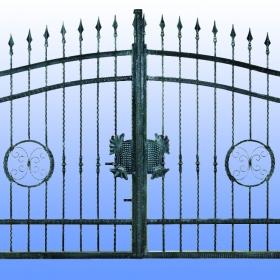 Brány Kovaná brána JaP 012   rozměr 350x180cm