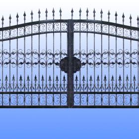 Brány Kovaná brána JaP 014   rozměr 350x180cm