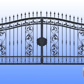 Brány Kovaná brána JaP 015   rozměr 350x180cm