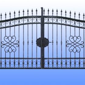 Brány Kovaná brána JaP 016   rozměr 350x180cm
