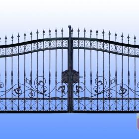Brány Kovaná brána JaP 017   rozměr 350x180cm