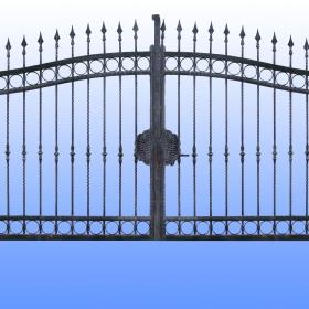 Brány Kovaná brána JaP 019   rozměr 350x180cm
