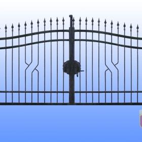 Brány Kovaná brána JaP 020   rozměr 350x180cm