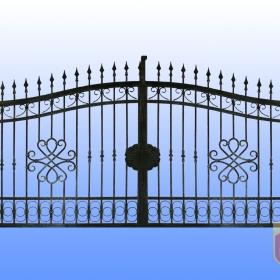 Brány Kovaná brána JaP 033   rozměr 350x180cm