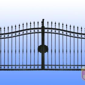 Brány Kovaná brána JaP 034   rozměr 350x180cm