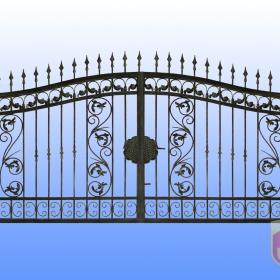 Brány Kovaná brána JaP 035   rozměr 350x180cm