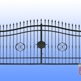 Brány Kovaná brána JaP 036   rozměr 350x180cm