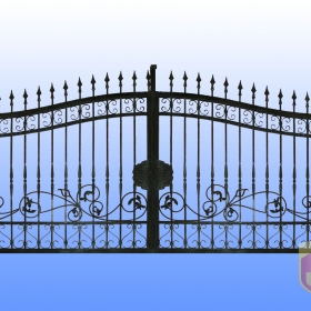 Brány Kovaná brána JaP 037   rozměr 350x180cm