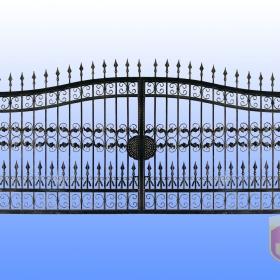 Brány Kovaná brána JaP 038 rozměr 350x180cm