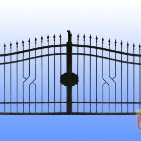 Brány Kovaná brána JaP 039   rozměr 350x180cm
