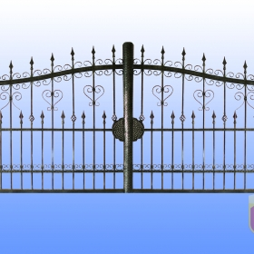 Brány Kovaná brána JaP 040   rozměr 350x180cm