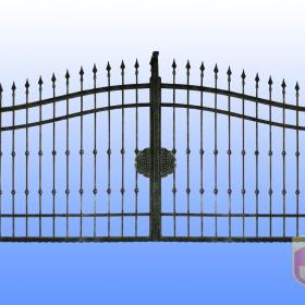 Brány Kovaná brána JaP 041  rozměr 350x180cm