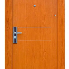 Ocelové dveře FX-S023 vchodové ocelové dveře,stavební otvor 205x96cm a stavební otvor 205x86cm