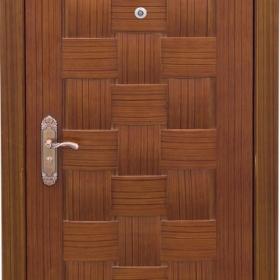 Ocelové dveře GM 004 vchodové ocelové dveře se dřevem, stavební otvor 205x96cm