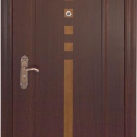 Ocelové dveře GM 006 vchodové ocelové dveře se dřevem, stavební otvor 205x96cm