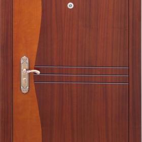 Ocelové dveře GM 007 vchodové ocelové dveře se dřevem, stavební otvor 205x96cm