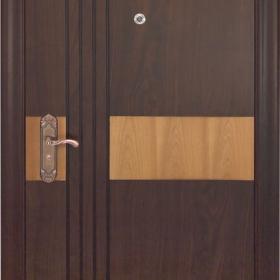 Ocelové dveře GM 008  vchodové ocelové dveře se dřevem, stavební otvor 205x96cm