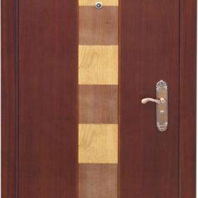 Ocelové dveře GM 009  vchodové ocelové dveře se dřevem, stavební otvor 205x96cm