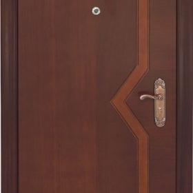 Ocelové dveře GM 010 vchodové ocelové dveře se dřevem, stavební otvor 205x96cm