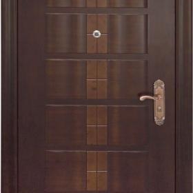 Ocelové dveře GM 012  vchodové ocelové dveře se dřevem, stavební otvor 205x96cm