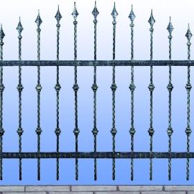 Ploty Kovaný plot JaP 004  rozměr 200x120cm