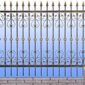 Ploty Kovaný plot ZY-W04015 rozměr 230x150cm.230x135cm