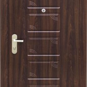 Ocelové dveře PP1D112Z51vchodové  ocelové dveře,stavební otvor 205x96cm